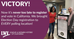 Sb 72 passed allowing same day voter registration