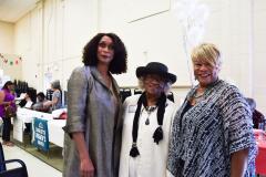 Carolyn Jefferson-Jenkins, Thereasea Elder, Delores Johnson Hurt, LWVCM President