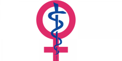 Symbol for Women Merged with Symbol for Medicine