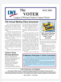 Cover photo of May Voter newsletter