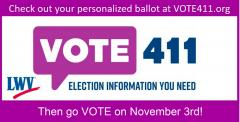 Vote411.org - November 3rd election