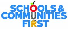 Logo for campaign, Schools and Communities First