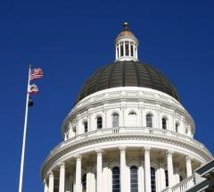dome of state capitol in Sacramento