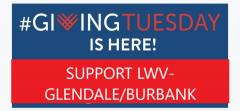 Giving Tuesday Graphic for Glendale Burbank