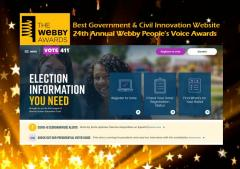 Vote411.org wins Webby Award 2020