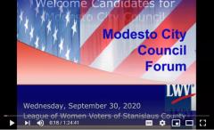 City council candidate forum screenshot