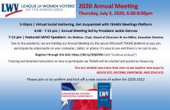 2020 Annual Meeting Invitation