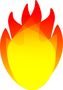 Clipart Flames - yellow, orange, and red