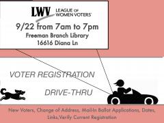 Drive Thru Voter Registration Event