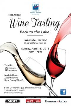 Wine Tasting 2018 - Event Flyer