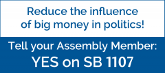 SB1107, advocacy, league of women voters of california, dark money, politics,