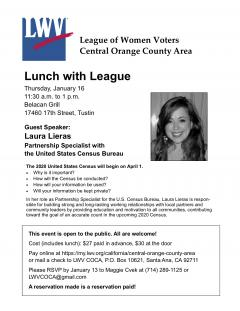 Lunch with League Census 2020 Laura Lieras speaker