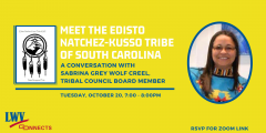 Virtual meeting with a council member for the Edisto Natchez-Kusso Tribe