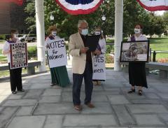 Photo of LWV of Norwalk 19th Amendment Celebration August 2020