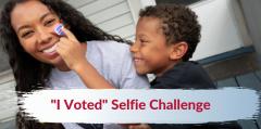 I voted selfie challenge image