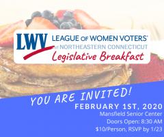 League of Women Voters of Northeastern Connecticut Legislative Breakfast Image