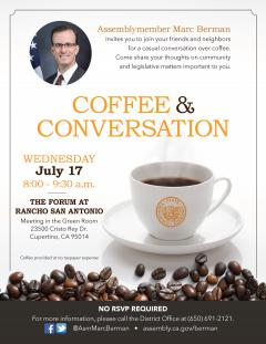 07/17/19 Marc Berman Coffee & Conversation invitation