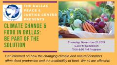 Climate Change & Food in Dallas: Be Part of the Solution!