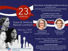 Susan B. Anthony Luncheon Invitation