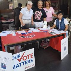 Four people ready to register voters