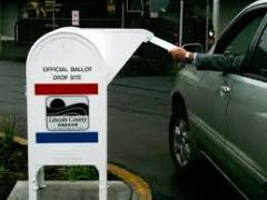 Drive-by ballot drop-off box