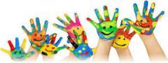 preschool painted hands