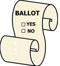 Clipart of a Ballot