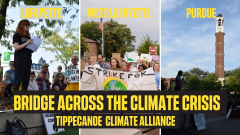 Images from summer Climate Strikes in Lafayette, West Lafayette, and Purdue