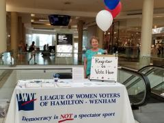 Voter Registration at the North Shore Mall