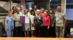 LWVHC Proclamation by Mayor Harry Kim on League's 100th Anniversary