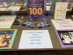 LWVHC 100th Anniversary Hilo Public Library Display