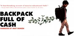 "Ad for documentary ""Backpack Full of Cash"""