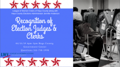 Recognition of Election Judges and Clerks event announcement