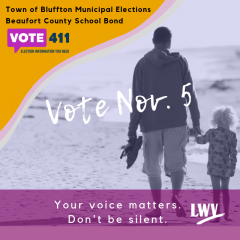 vote Nov. 5. Your voice matters. Don't be silent. ee