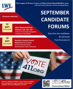September Candidate Forums