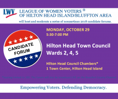 Oct 29 HH Town Council Candidate Forum