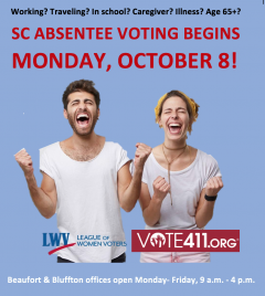 Absentee Voting Oct. 8- Nov. 5