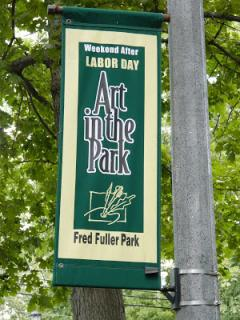 Art in the Park event sign