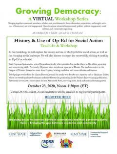 Growing Democracy Oct 23 2020 event flyer