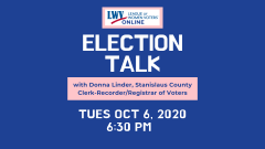 Donna Linder speaks at Election Talk - image