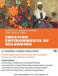 2019 Black History Month flyer
