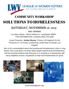Homelessness Event Flyer with approved pics