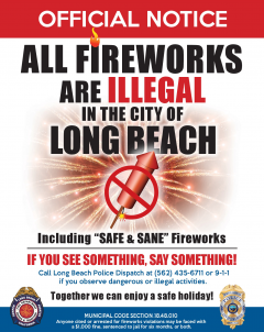 Fireworks illegal in LBC
