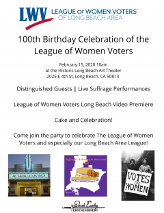 100 Year Celebration Flyer 2020