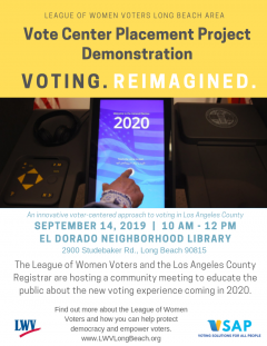 Vote Center Demonstration event