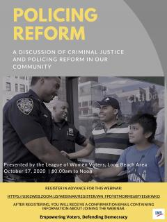 Police Reform Event Oct 2020