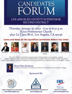Candidate forum flyer - County Supervisor, 2nd District