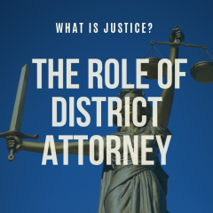 the role of the district attorney event flyer