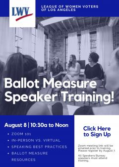 Ballot Measure Speaker Trainer