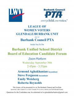 burbank council pta